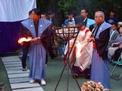 新田神社薪能 火入れ式