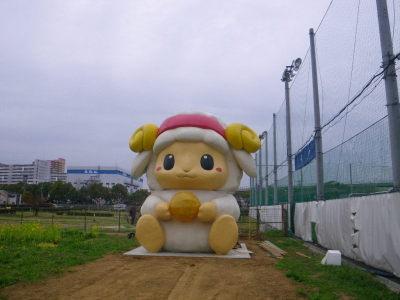ひまわり広場のおづみん像