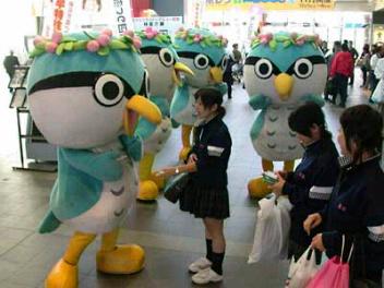 オリピー勢揃い@香川駅