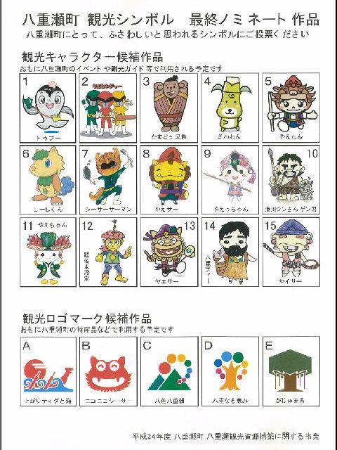八重瀬町観光シンボル 最終ノミネーション作品