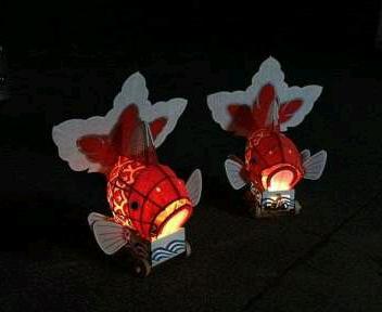 宵の金魚台輪