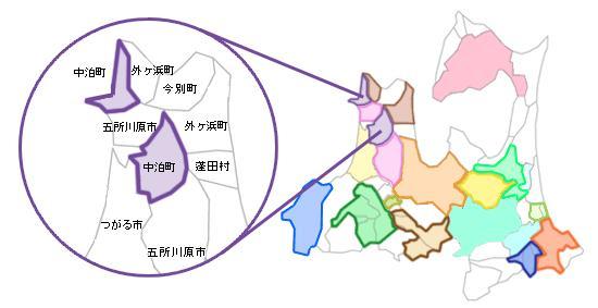 津軽合併マップ