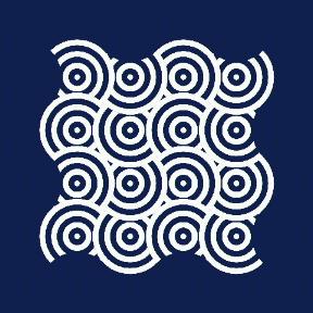 組藍海波紋