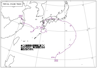 2018年 台風12号