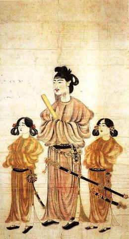 聖徳太子二王子像 / 唐本御影